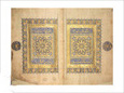 Illuminated Pages from a Koran Manuscript