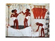 Egypt, Thebes, Sheikh Abd el-Qurna, frescoes from Nakht's tomb